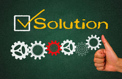 Solution with gear concept Royalty Free Stock Photo