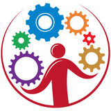 Solution gears Royalty Free Stock Images