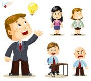 Solution. Gens d'affaires illustration de vecteur