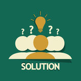Solution Group. Concept abstract background Stock Photography