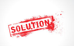 Solution grunge text Royalty Free Stock Image