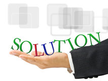 Solution and hand Royalty Free Stock Photography