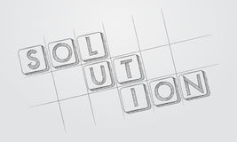 Solution in hand-drawn style blocks Royalty Free Stock Images