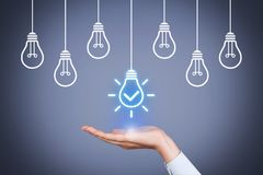 Solution Idea Concepts with Light Bulb royalty free stock photos