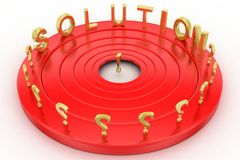 Solution illustraion Royalty Free Stock Images