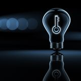 Solution and key. Solution, a key in a bulb Royalty Free Stock Photography