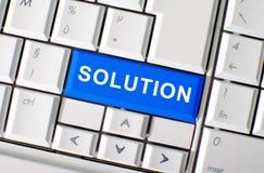 Solution key on laptop keyboard Royalty Free Stock Photo