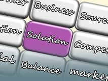Solution on the keyboard Royalty Free Stock Image