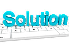 Solution letters Stock Images
