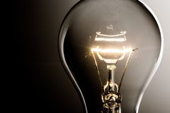 Solution. Light Bulb Creativity Energy Lighting Equipment Technology Innovation Stock Photos