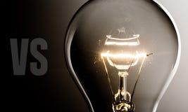 Solution. Light bulb creativity energy lighting equipment technology innovation Stock Photo
