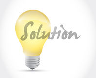Solution light bulb illustration design Stock Images