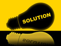Solution Lightbulb Represents Solutions Success And Solved Stock Photography