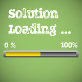 Solution loading Royalty Free Stock Images