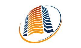 Solution Logo Design Template d'hôtel illustration de vecteur