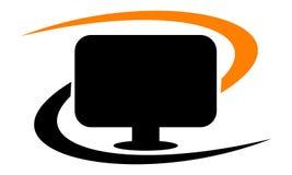 Solution Logo Design Template d'ordinateur Photographie stock