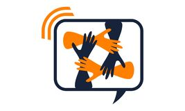 Solution Logo Design Template de synergie Photo stock