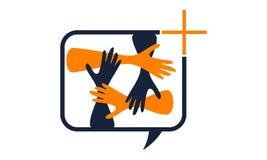 Solution Logo Design Template de synergie Image stock