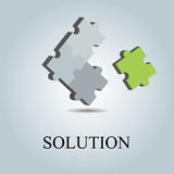 Solution logo Royalty Free Stock Photo
