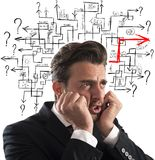 Solution of maze of answer Royalty Free Stock Photo