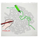 Solution maze Royalty Free Stock Photography