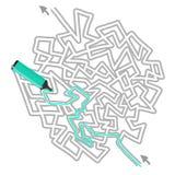 Solution maze Stock Photos
