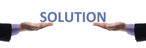 Solution message Stock Photos