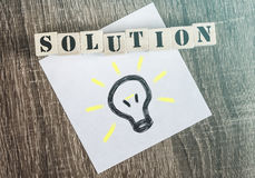 Solution message Stock Image