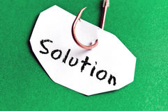 Solution message on paper Royalty Free Stock Photo