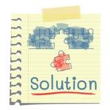 Solution stock illustration