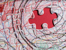 Solution is obvious. Final solution to puzzle is obvious Royalty Free Stock Image