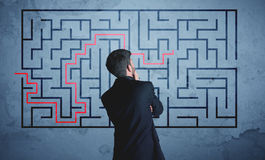 Free Solution Of A Maze Stock Images - 68720654