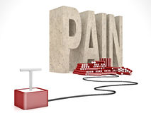 Solution for pain Stock Photos