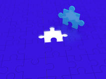 Solution piece. Missing puzzle representing solution, teamwork and success Royalty Free Stock Photos