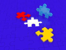 Solution piece. Missing puzzle representing solution, teamwork and success Royalty Free Stock Photo