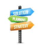 Solution, planning and strategy sign illustration Stock Images