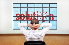 Solution on plasma Royalty Free Stock Images