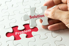 Solution for problem for business metaphor Stock Photos