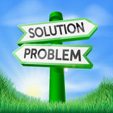 Solution problem decision sign Stock Photo