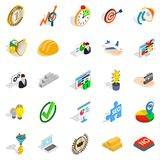 Solution of the problem icons set, isometric style Stock Photos