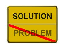 Solution and problem sign Stock Images