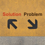 Solution and Problem Royalty Free Stock Photos