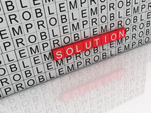 Solution and problem word Stock Photos