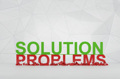 Solution and problems. Symbol. 3d render Stock Photos