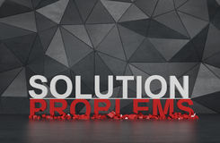 Solution and problems. Symbol. 3d render Stock Photo