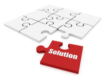 Solution puzzle Royalty Free Stock Photography