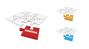 Solution puzzle Stock Photos