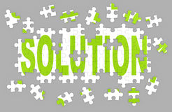 Solution puzzle Stock Images