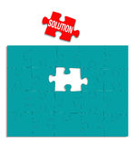 Solution Puzzle Brain Storming Stock Images