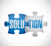 Solution puzzle illustration design Royalty Free Stock Photo